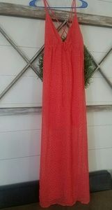 New Maxi Dress Large Coral